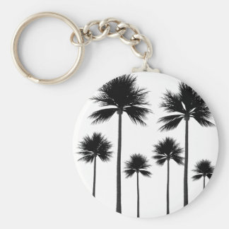 Palm Tree Silhouette Keychain