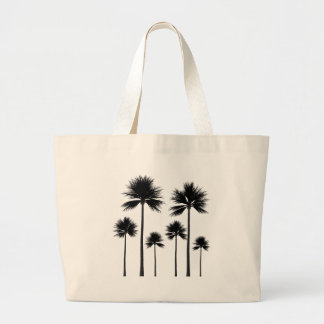 Palm Tree Silhouette Large Tote Bag