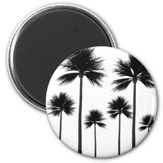 Palm Tree Silhouette Magnet