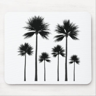 Palm Tree Silhouette Mouse Pad