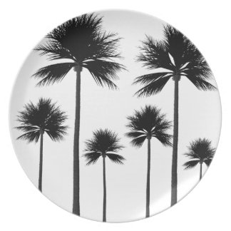 Palm Tree Silhouette Plate