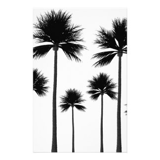 Palm Tree Silhouette Stationery