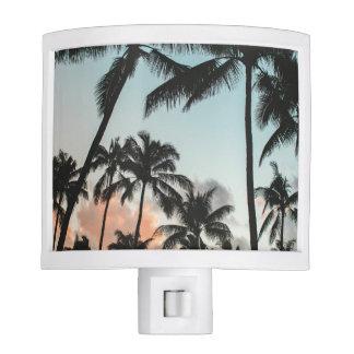 Palm Tree Silhouettes Nite Lights