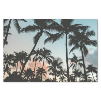 Palm Tree Silhouettes Tissue Paper