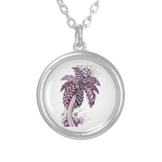Palm Tree Silver Plated Necklace
