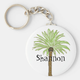 Palm Tree Sketch Keychain