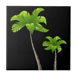 "Palm Tree Small (4.25"" x 4.25"") Ceramic Photo Tile"