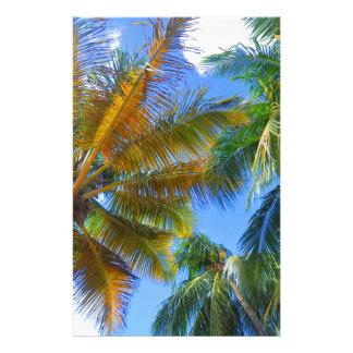 Palm tree stationery design