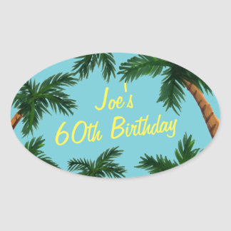 Palm Tree Summer Party Stickers
