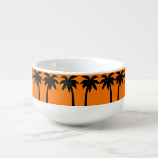 PALM TREE SUN SET SOUP BOWL SOUP MUG