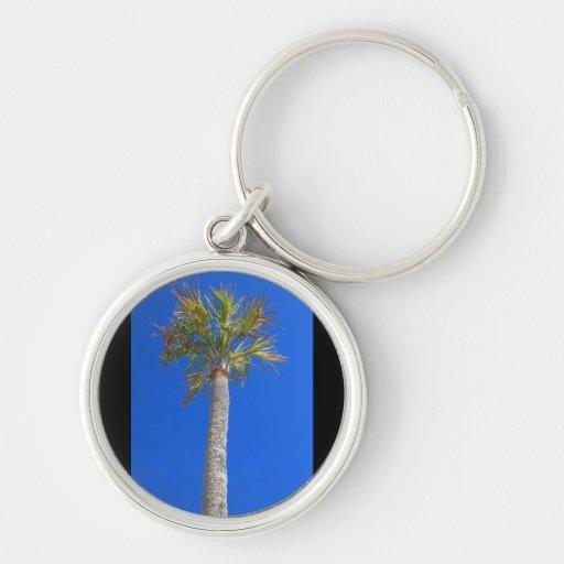 Palm Tree & Sunny Blue Sky Keychain