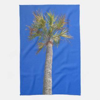 Palm Tree & Sunny Blue Sky Kitchen Towel