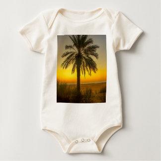 Palm Tree Sunrise Baby Bodysuit