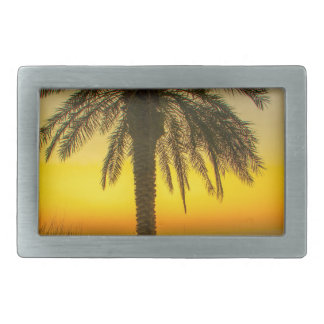 Palm Tree Sunrise Belt Buckle