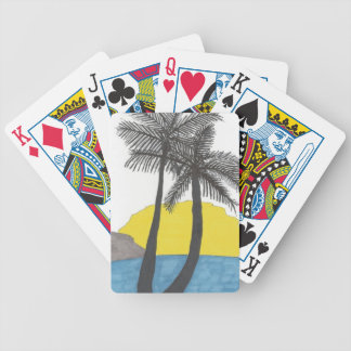 Palm Tree Sunrise Bicycle Playing Cards