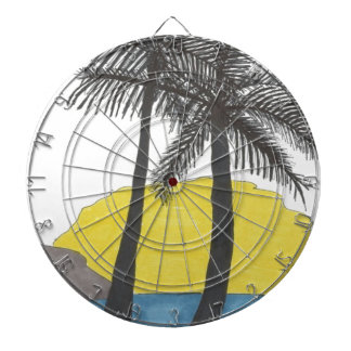 Palm Tree Sunrise Dartboard