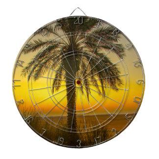 Palm Tree Sunrise Dartboard