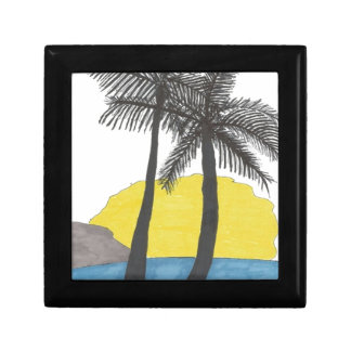 Palm Tree Sunrise Gift Box