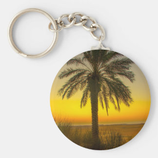 Palm Tree Sunrise Keychain