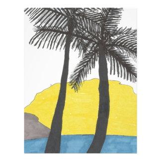Palm Tree Sunrise Letterhead