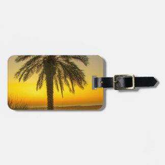 Palm Tree Sunrise Luggage Tag