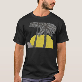 Palm Tree Sunrise Silhouette Mens Tshirt