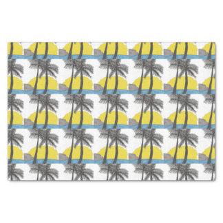 Palm Tree Sunrise Silhouette Tissue Paper