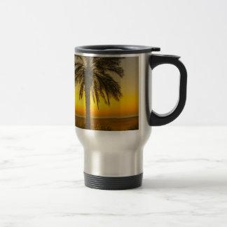 Palm Tree Sunrise Travel Mug