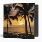 Palm tree sunset 3 ring binder