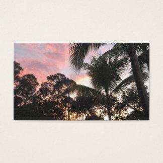 Palm Tree Sunset Business Card