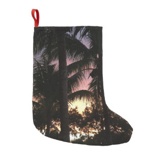 Palm Tree Sunset Small Christmas Stocking