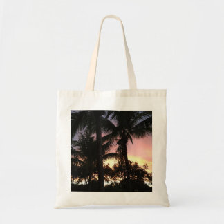 Palm Tree Sunset Tote Bag