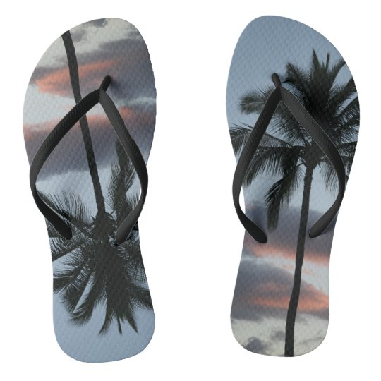 Palm Tree Surfer Flip Flops