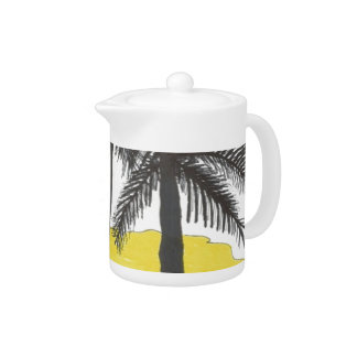 Palm Tree Tea Pot