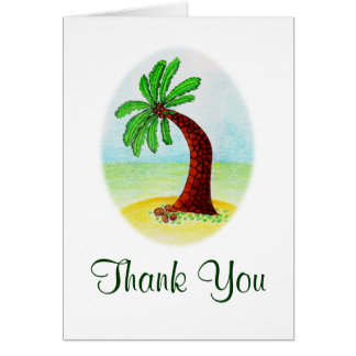 palm tree, Thank You Card