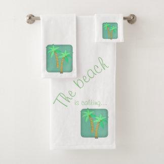 Palm tree towel set