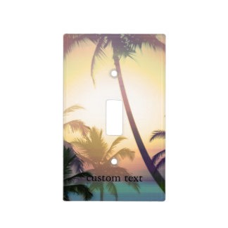 Palm Tree Tropical Heat Beach Light Switch Cover