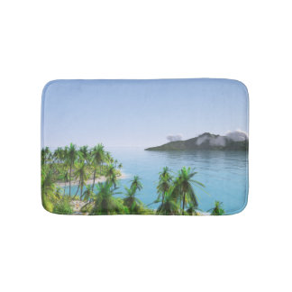 Palm Tree Tropical Island Bath Mat