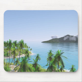 Palm Tree Tropical Island Mouse Pad