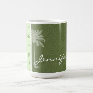 Palm Tree; Tropical Coffee Mugs