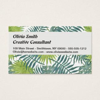 Palm Tree Vintage Hawaiian Print Art Business Card