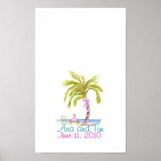 palm tree wedding, Ana and Tim, June 11, 2010 Poster