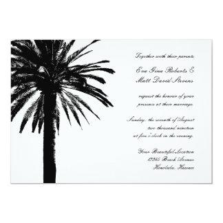 Palm tree wedding invitations   Tropical invites