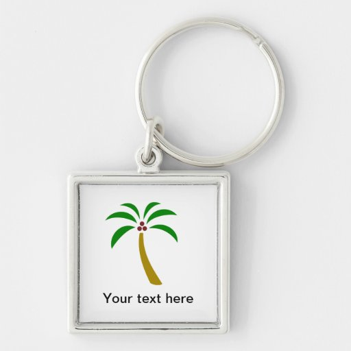 Palm Tree With Coconuts Key Chain