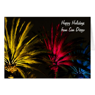 Palm Tree with Lights Christmas Happy Holidays Card