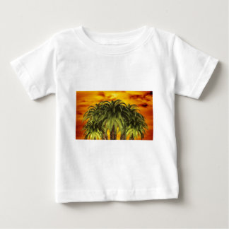 palm-trees-284544 TROPICAL FANTASY WARM ISLAND DIG Baby T-Shirt