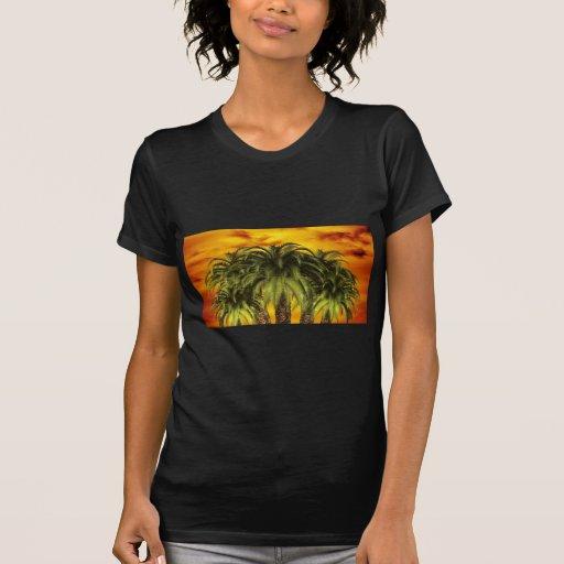 palm-trees-284544 TROPICAL FANTASY WARM ISLAND DIG T-shirt