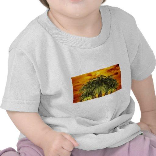 palm-trees-284544 TROPICAL FANTASY WARM ISLAND DIG T-shirts