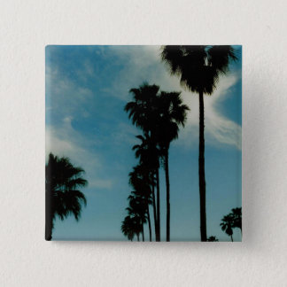 Palm Trees 2 Inch Square Button
