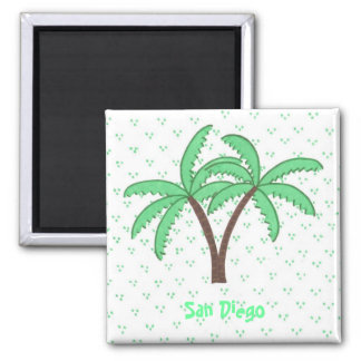Palm Trees 2, San Diego refrigerator magnet